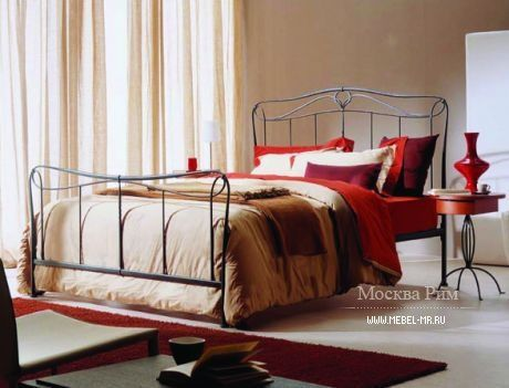 Bed Carolina by Bontempi Casa, Italy. Кровать с высоким изголовьем и изножьем Carolina, Bontempi Casa. #designinterior #interior #decor #mebelmr