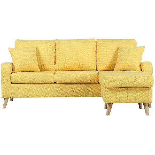 Mid Century Modern Linen Fabric Small Space Sectional Sofa With... (345 BAM