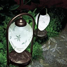 31 best path lights by solascape images on pinterest solar path mood lighting for your next outdoor summer soiree etched dragonfly arched solar path lights mozeypictures Gallery
