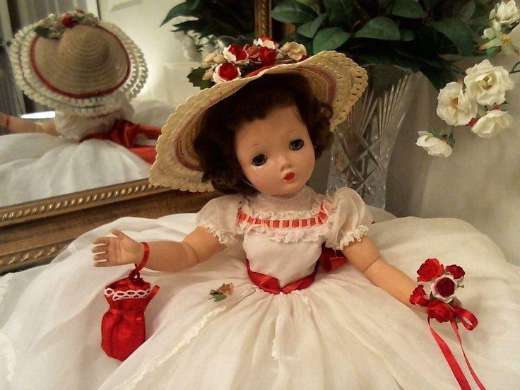 CISSY Madame Alexander RARE 1955 BRUNETTE! Southern Belle! VTG ORIG GOWN + HAT!
