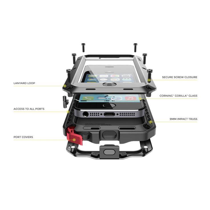 Husa metalica TAKTIK® Extreme pentru iPhone 7 Plus - Lunatik - Triomag