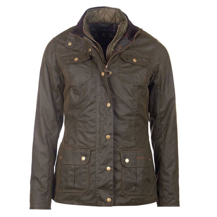 Ashley Wax Jacket in Olive by Barbour #$200+ #Barbour #Barbour-Waxed