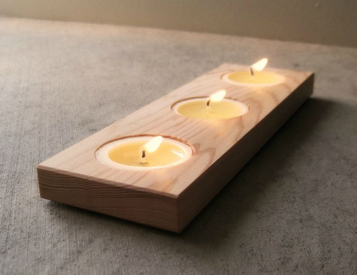 Wooden Candle Holder in Reclaimed Wood