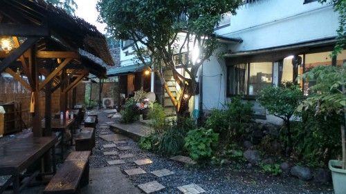 Ma nuit dans un ryokan du quartier typique de Kannawa à Beppu, Kyushu, Japon.