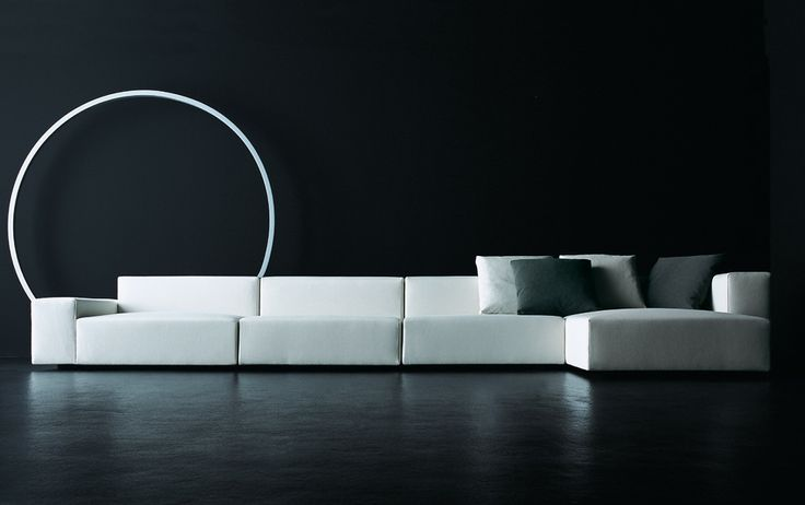 The Wall modular sofa by Piero Lissoni for Italian furniture brand Living Divani.