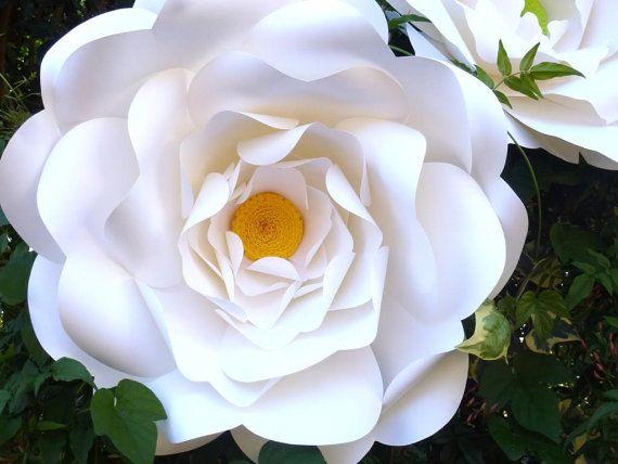 Giant Paper Flower  Camellia Wedding Flower Backdrop by StudioToto on Etsy
