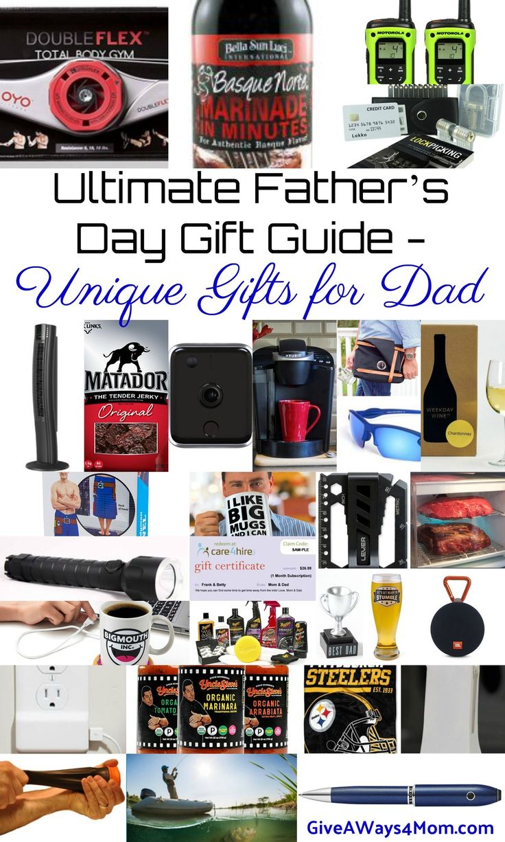 Ultimate Father's Day Gift Guide - Unique Gifts for Dad + Giveaway http://giveaways4mom.com/2017/06/ultimate-fathers-day-gift-guide-unique-gifts-for-dad/