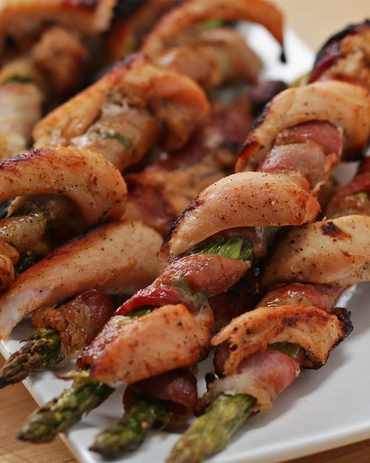 Chicken Bacon Asparagus Twists by Tasty