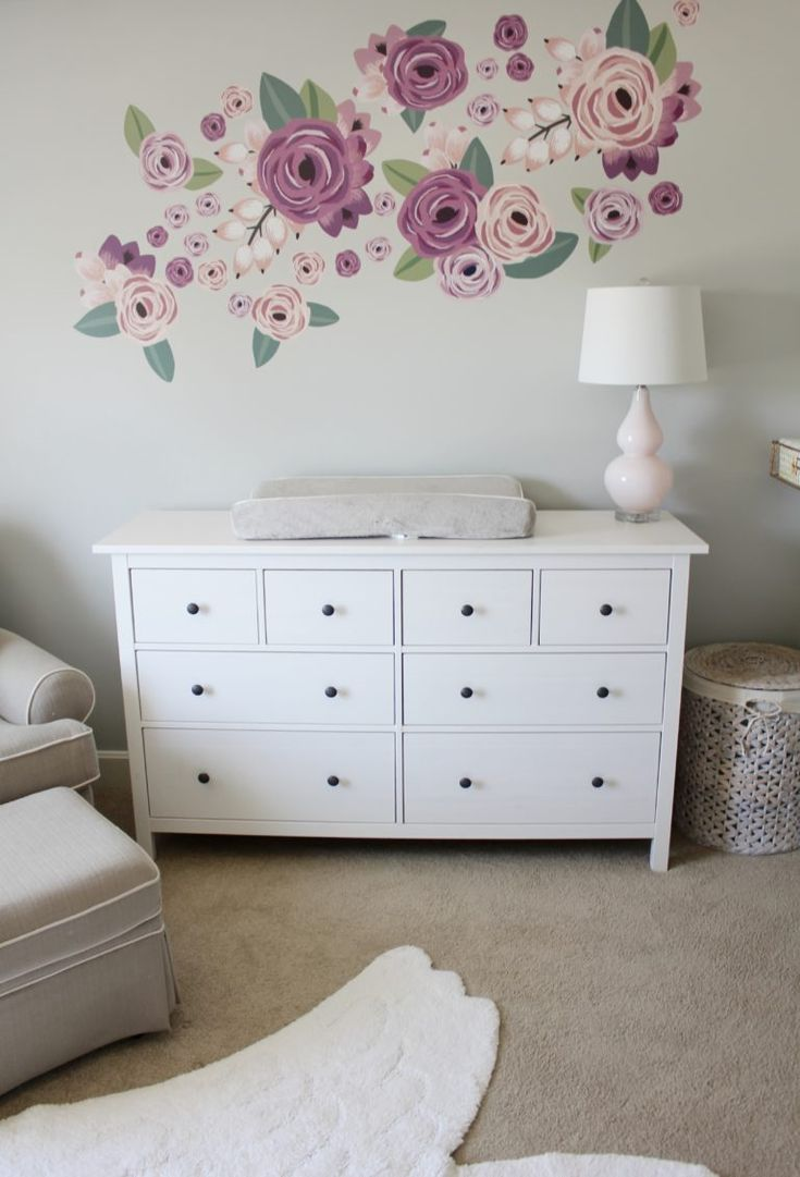 best 25 flower wall decals ideas on pinterest wall vintage hartley s light and airy shiplap nursery
