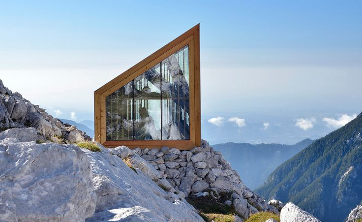 The asymmetric glazed gables offer picture perfect views of the Alpine scenery