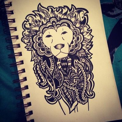 33 best henna lion tattoo images on pinterest henna