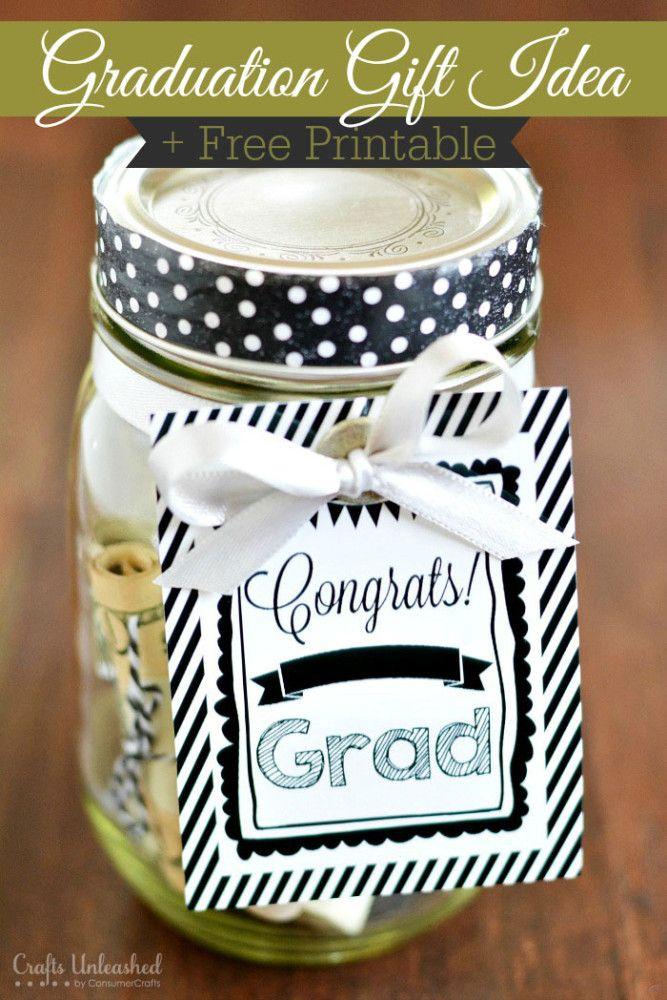 Congrats Grad Free Printable & Graduation Gift Idea