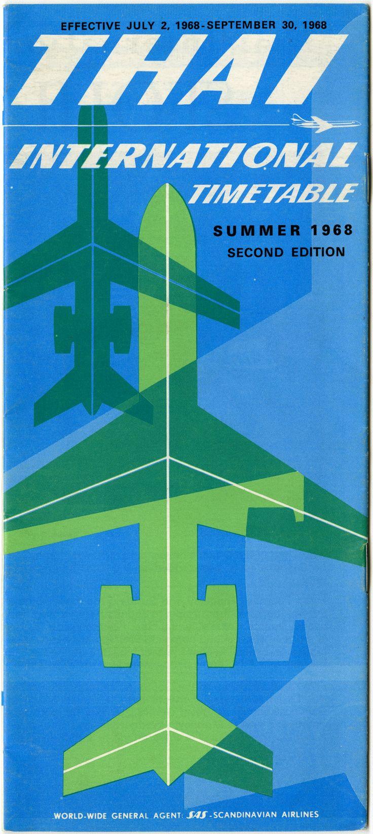 timetable: Thai Airways International | Summer timetable issued by Thai Airways International, effective July 2 through September 30, 1968 | http://www.flysfo.com/museum/