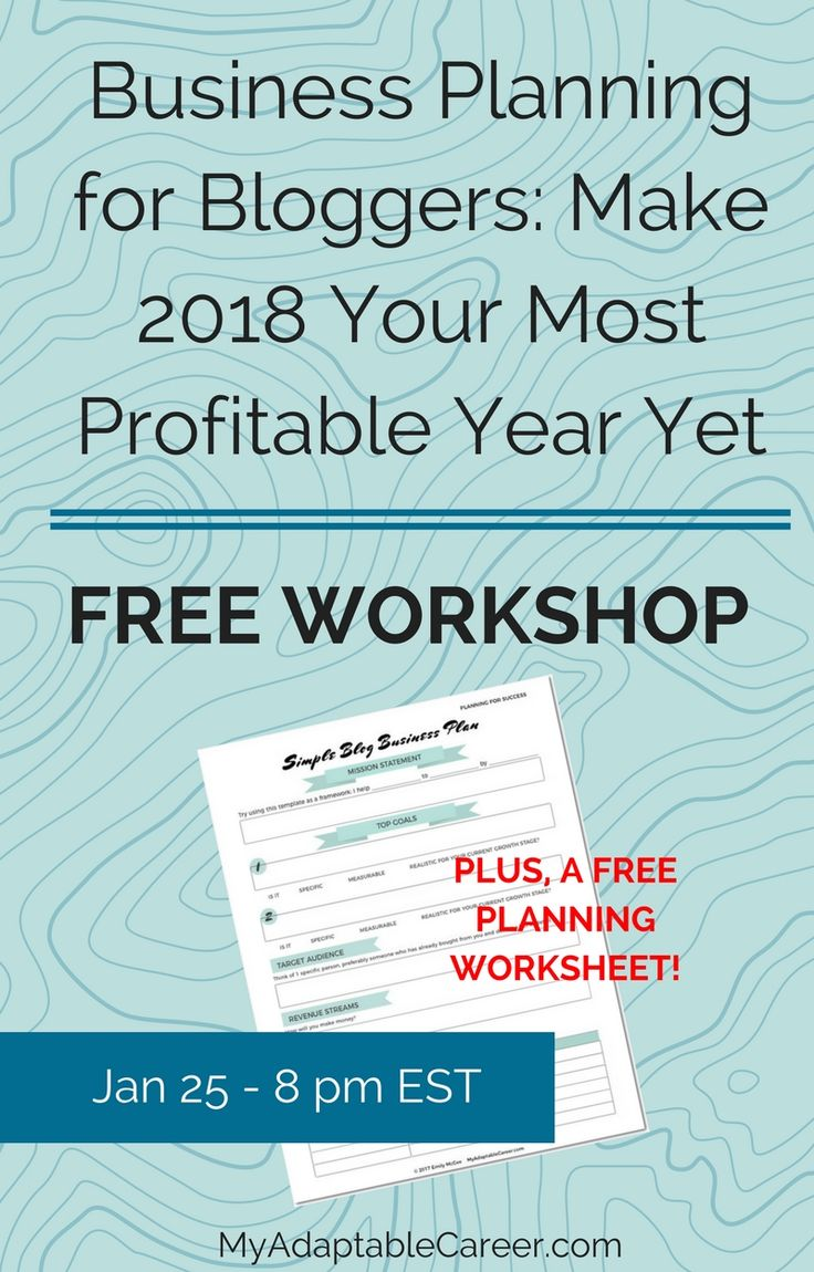 During this free blog planning workshop, you'll create a business plan that helps you figure out the best way for YOU to make money blogging. Sign up now, spots are limited!