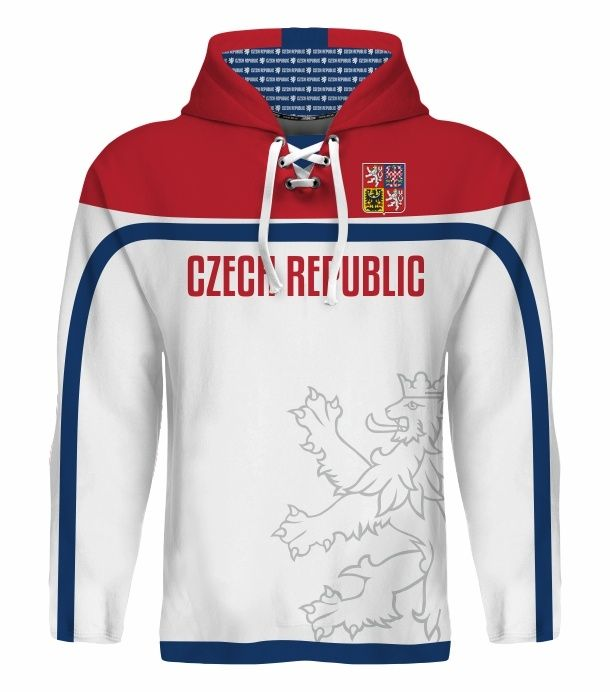 NEW 2015 Team Czech Republic Hockey World Cup Hoodie NHL JAGR VORACEK ERAT HERTL