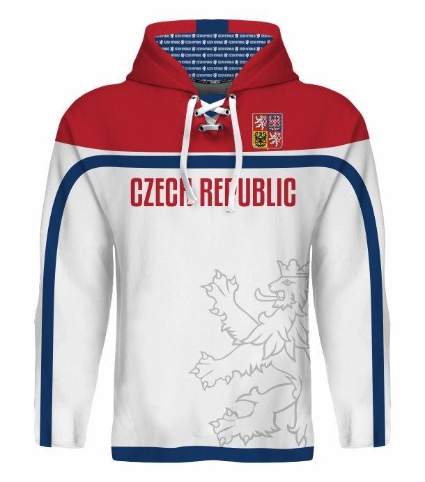 NEW 2015 Team Czech Republic Hockey World Cup Hoodie NHL JAGR VORACEK ERAT HERTL