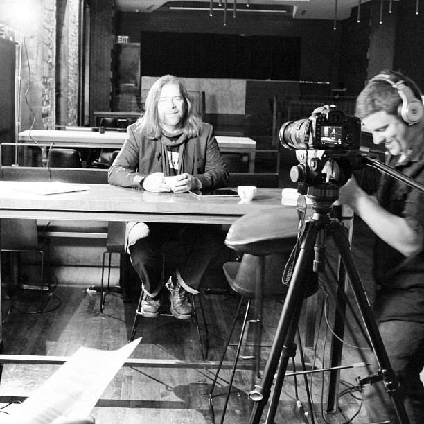 A shot from our new project featuring Alan Doyle of Great Big Sea!