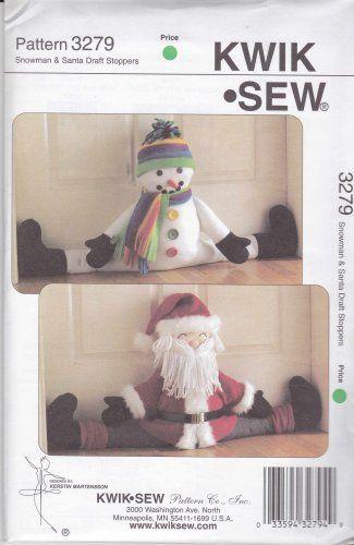 Kwik Sew Sewing Pattern 3279 Snowman Santa Claus Door Draft Stoppers & 64 best door Stoppers and door drafts images on Pinterest Pezcame.Com