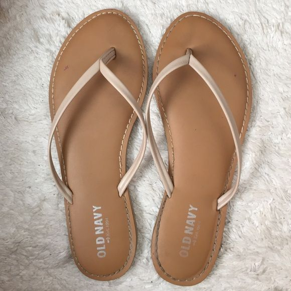 Nude flip flops Does not fit me anymore Old Navy Shoes Sandals