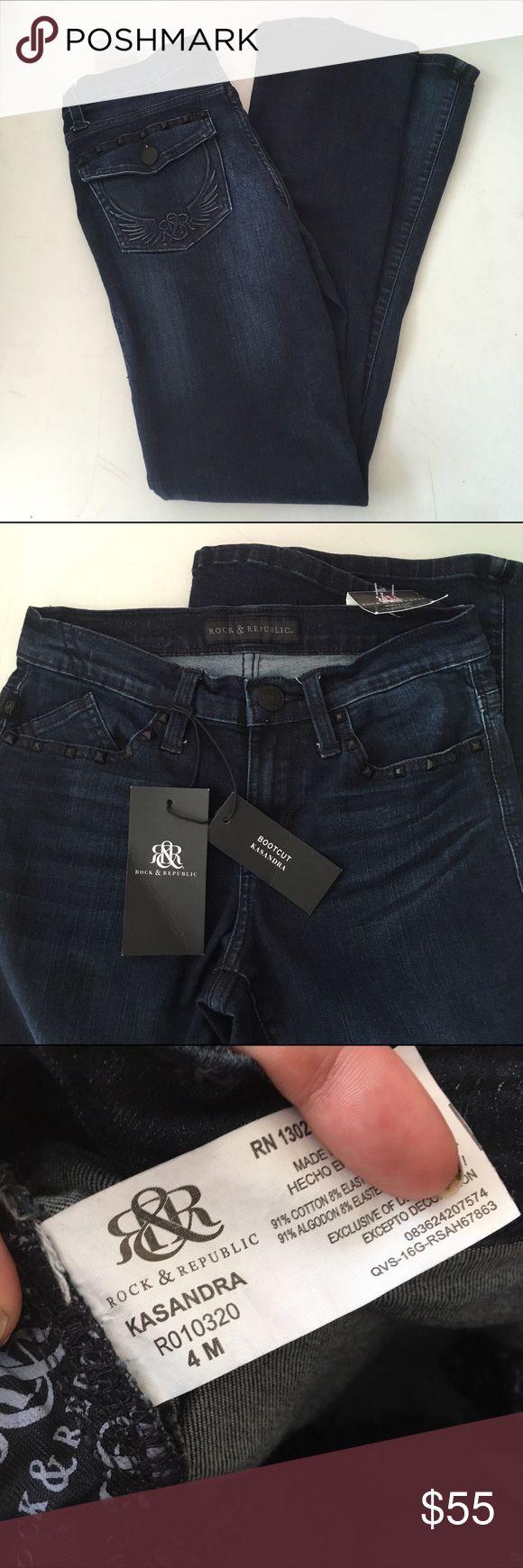 Rock & Republic Bootcut Jeans NWT Size 4 Rock & Republic Bootcut Jeans NWT Size 4 Rock & Republic Jeans Boot Cut