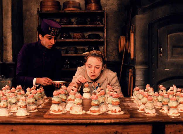 Et voila:   How To Make The Starring Pastry From Wes Anderson's Grand Budapest Hotel. Courtesan au Chocolat