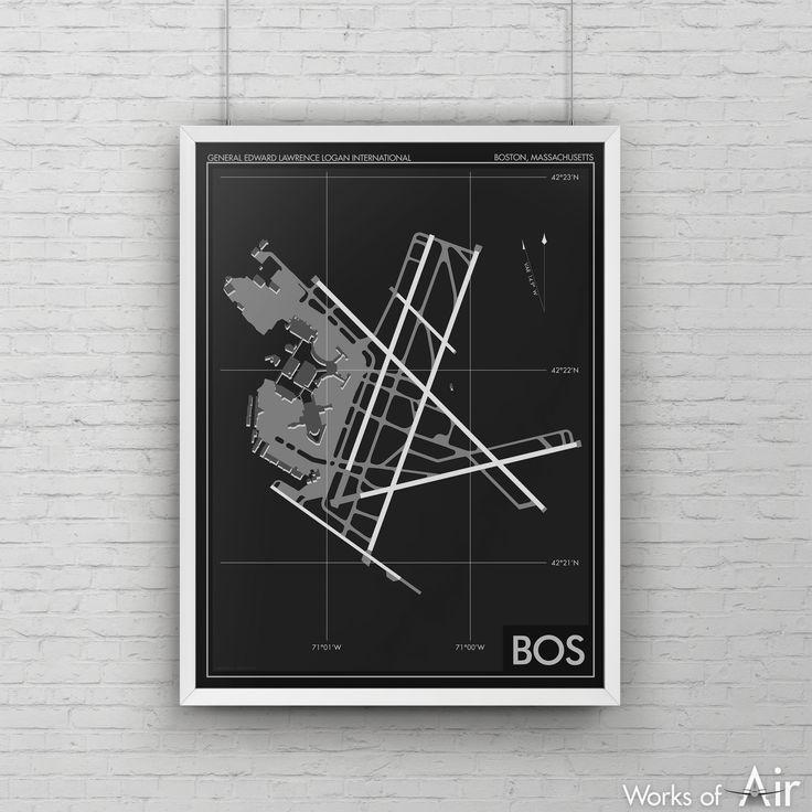 Boston Logan International Airport Art Print, BOS Airport