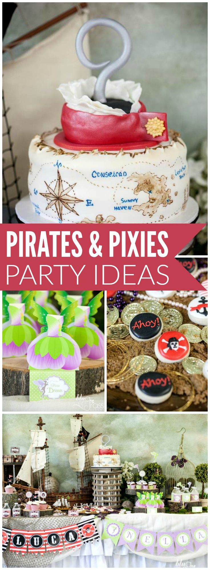 This incredible party combines pirates and pixies! See more party ideas at CatchMyParty.com!
