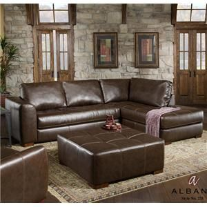 275 Contemporary Sectional Sofa With Chaise And Ottoman By Albany    Knoxville Wholesale Furniture   Sofa