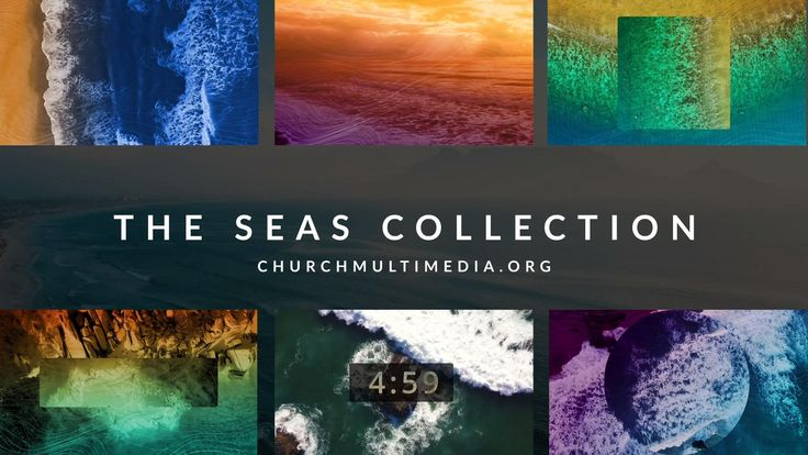 The Seas Collection includes 5 motion backgrounds in