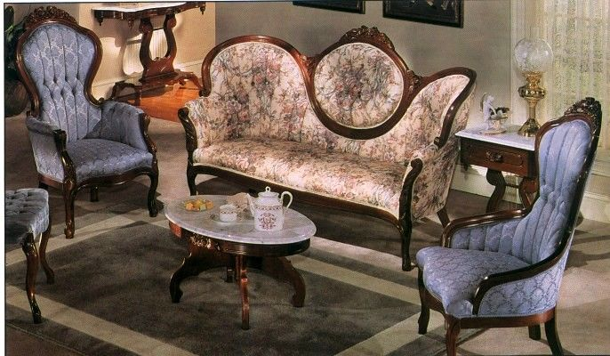 28 best images about victorian style furniture on for Victorian living room furniture