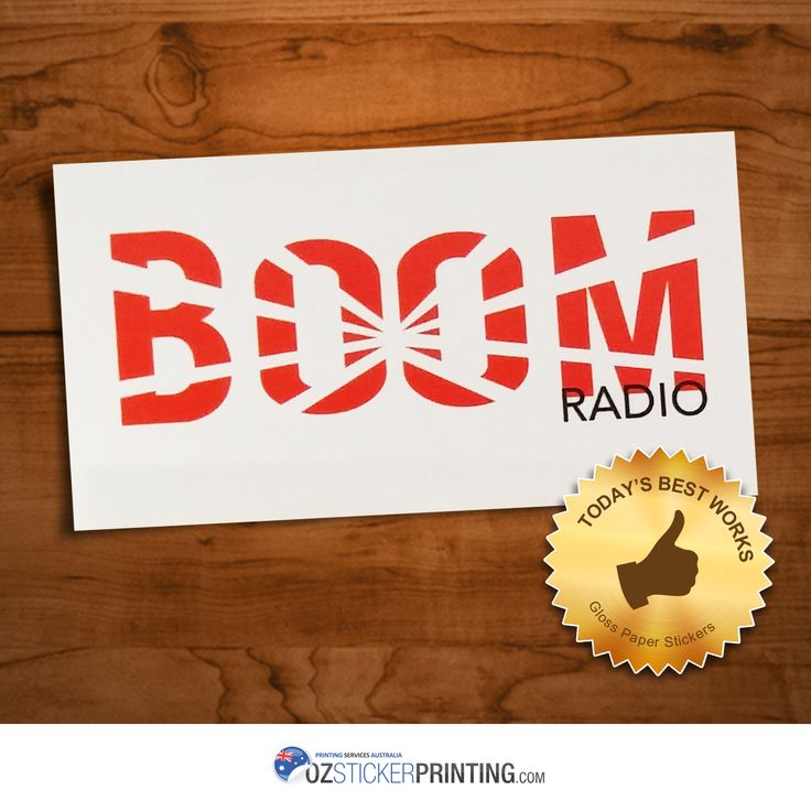 Just another reason to love our paper stickers check out boom radio gloss paper stickers