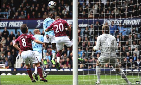 West Ham 1 Man City 1 in May 2010 at Upton Park. A goal from Shaun Wright-Phillips makes it 1-1 #Prem