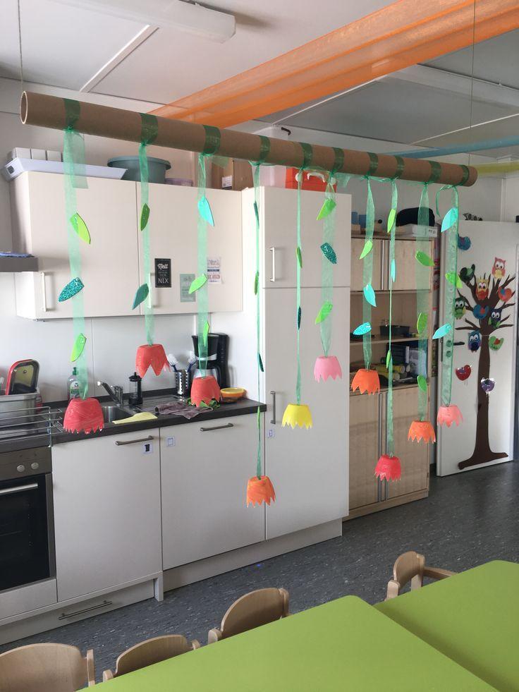 Tulpen Fruhling Kinderkrippe Basteln Raumteiler