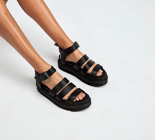 04fecacde42 Dr. Martens Womens Blaire Brando Sandal | Black | Footasylum | Sole ...