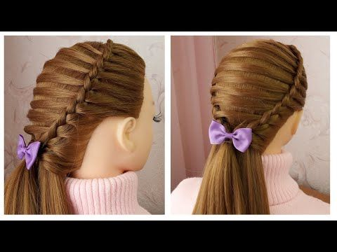 Tuto Coiffure Avec Tresse Pour Petite Fille Quick Easy Party Hairstyle Tutorial For Girls Youtube Tuto Coiffure Coiffure Facile Pour Fete Coiffure Rapide
