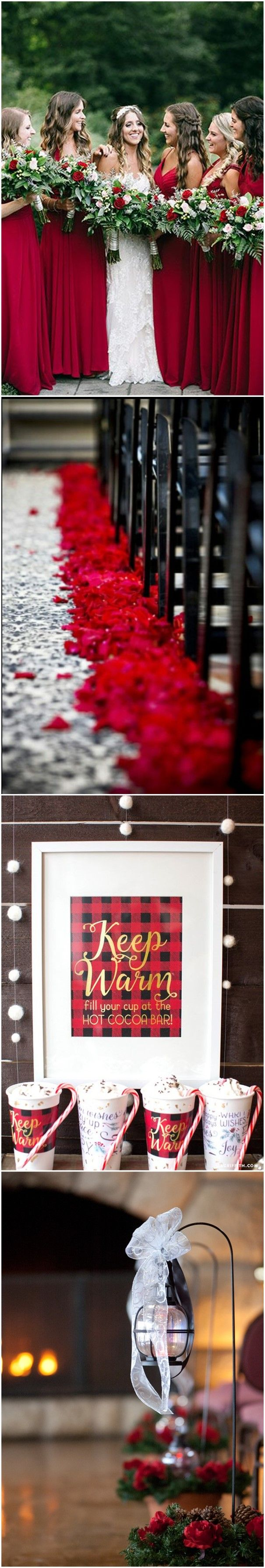 Wedding Colors » 24 Eye-catching Red Winter Wedding Ideas You Will Never Regret Having!