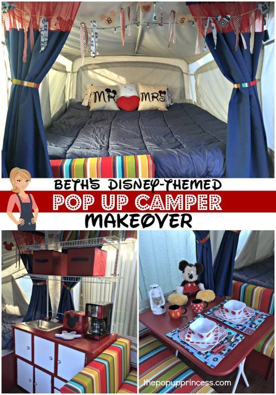 Beth's Pop Up Camper Makeover - The Pop Up Princess:  Young and old alike will love this Disney inspired pop up trailer remodel.  It's a perfect family retreat!