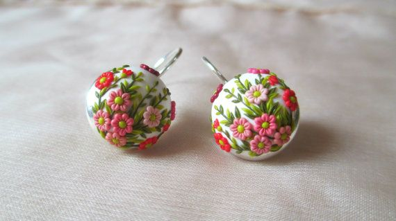 Spring that never goes away earrings White от StoriesMadeByHands