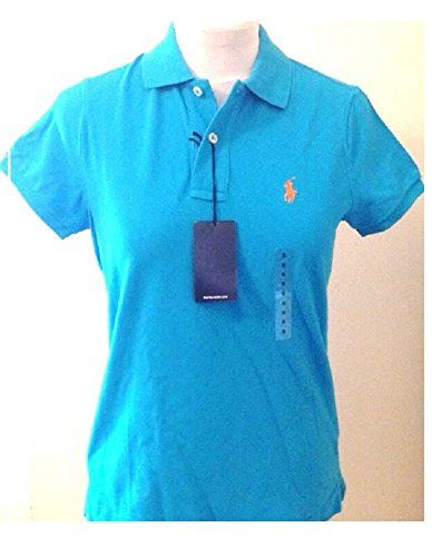 Ralph Lauren Polo Shirt Ladies Skinny Fit Solid Mesh (L, Medium Blue (Orange Logo)) Superb womens solid mesh Polo by Ralph Lauren in a Skinny Fit. Features short sleeves, two buttons to the collar and embroidered polo logo. (Barcode EAN = 3611581375516). http://www.comparestoreprices.co.uk/december-2016-5/ralph-lauren-polo-shirt-ladies-skinny-fit-solid-mesh-l-medium-blue-orange-logo-.asp