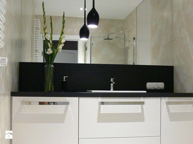 apartament do wynajęcia - Mała łazienka w bloku bez okna, styl nowoczesny - zdjęcie od pracownia-wnetrza