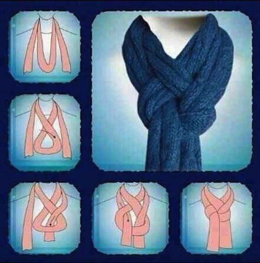 Opción para ponerse la bufanda