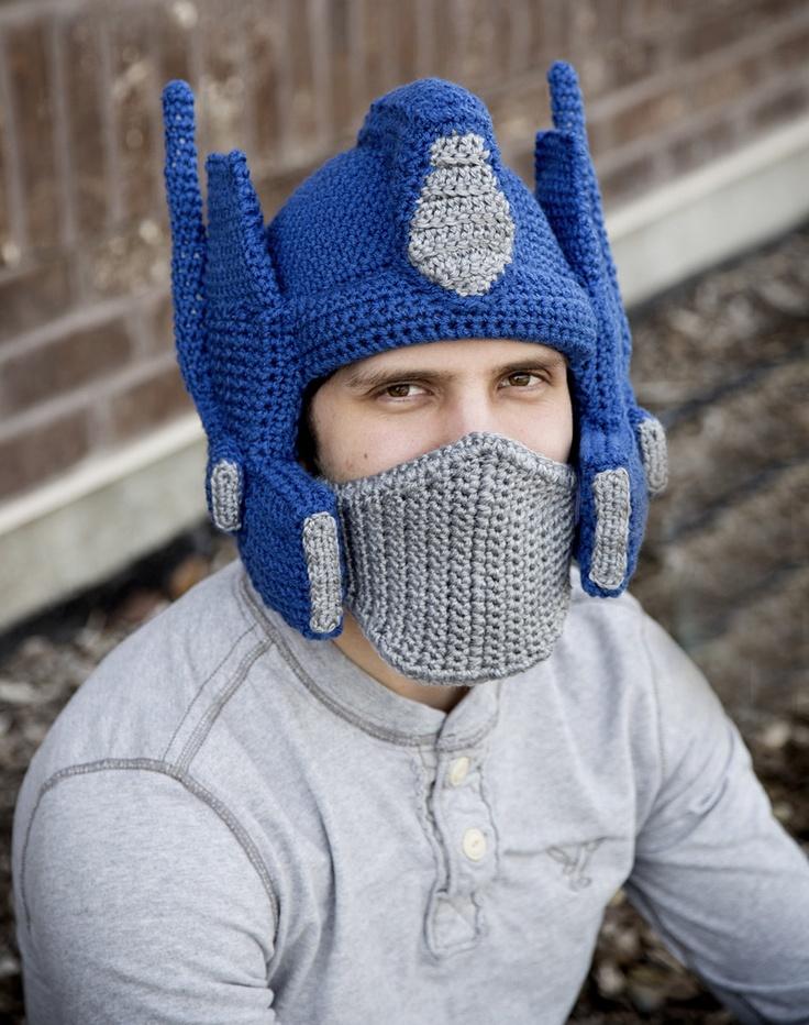 Crochet Transformers Inspired Optimus Prime Hat. USD84.99 ...