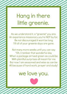 A Greenie poem for the greenie package Serving the Lord in Santiago