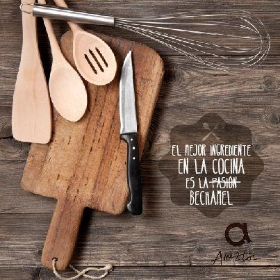El mejor ingrediente en la cocina es la bechamel. #RefranesAmeztoi