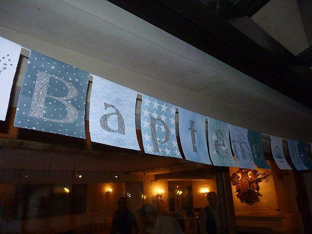 Banderole personnalisée pour fête, anniversaire, mariage, baptême, baby-shower...