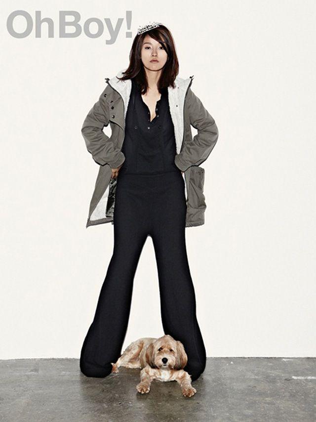 Lee Hyori And Pooch Grace Oh Boy! Korea Magazine November 2011