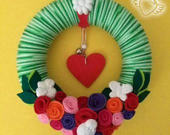 Spring Wreath R  Door decoration