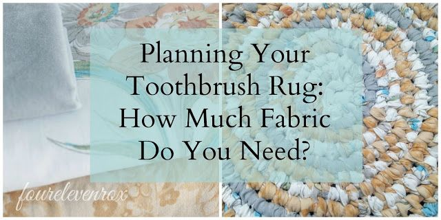 Four Eleven Rox: Planning for Your Amish Knot Toothbrush Rag Rug