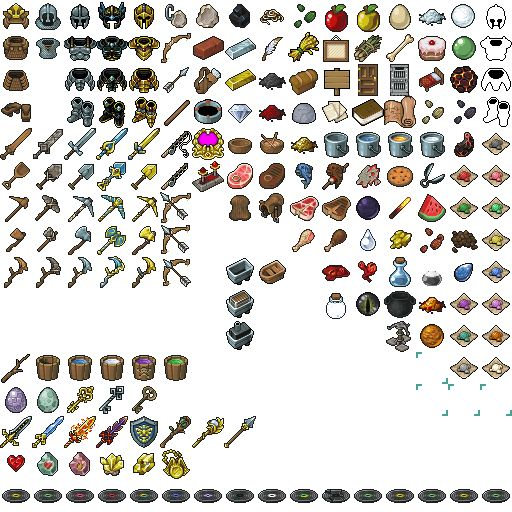 elements from minecraft @.@ most of them pretty much look alike and those weapon @.@