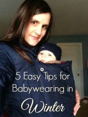 5 Easy Tips for Babywearing in Winter